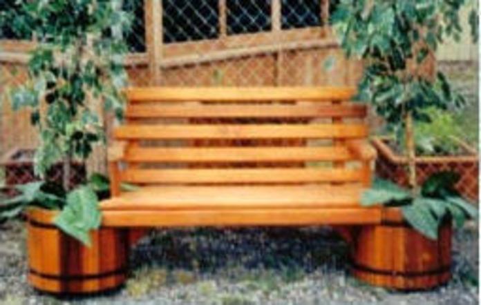 Flower pot bench plans 28 images planter bench plans for Flower bench ideas